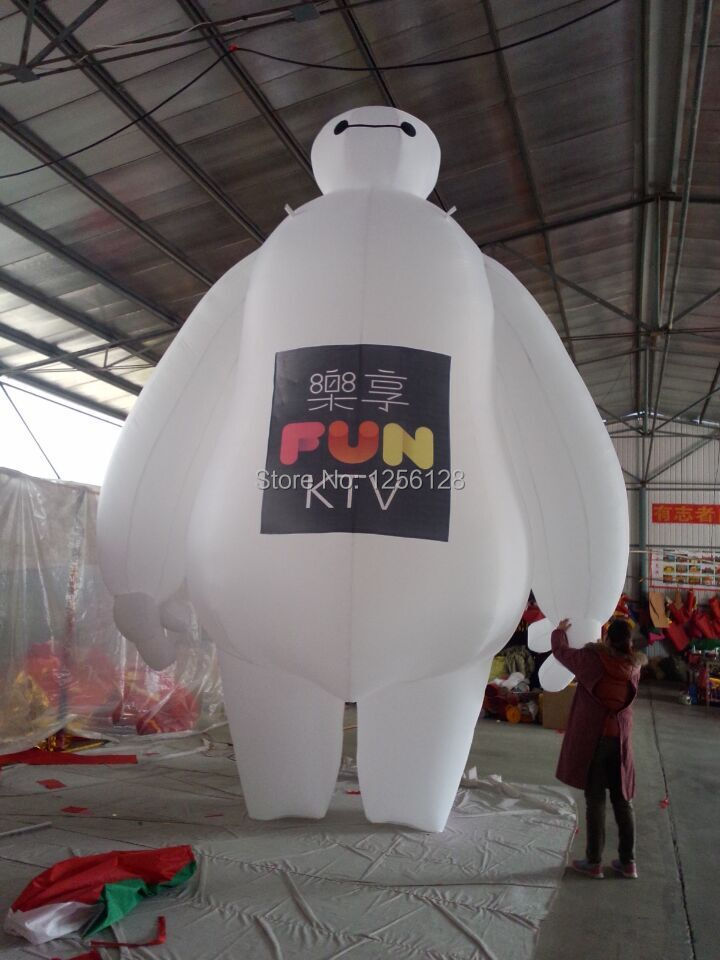 5 m H Giant Inflatable Robot Baymax Inflatable Publicity With LOGO Put on For Advertising