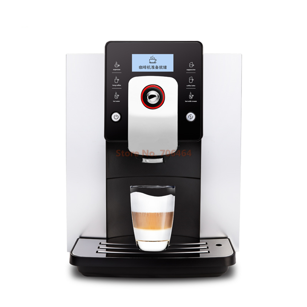 one touch commercial dual heating system lcd screen espresso coffee machine 19 bar with brewer - Commercial Coffee Maker