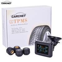 CARCHET TPMS Systems Tire Pressure Monitoring System Wireless Car Tire Pressure Alarm LCD DVD 4 Sensors for Toyota Hyundai etc|Tire Pressure Alarm|Automobiles & Motorcycles -