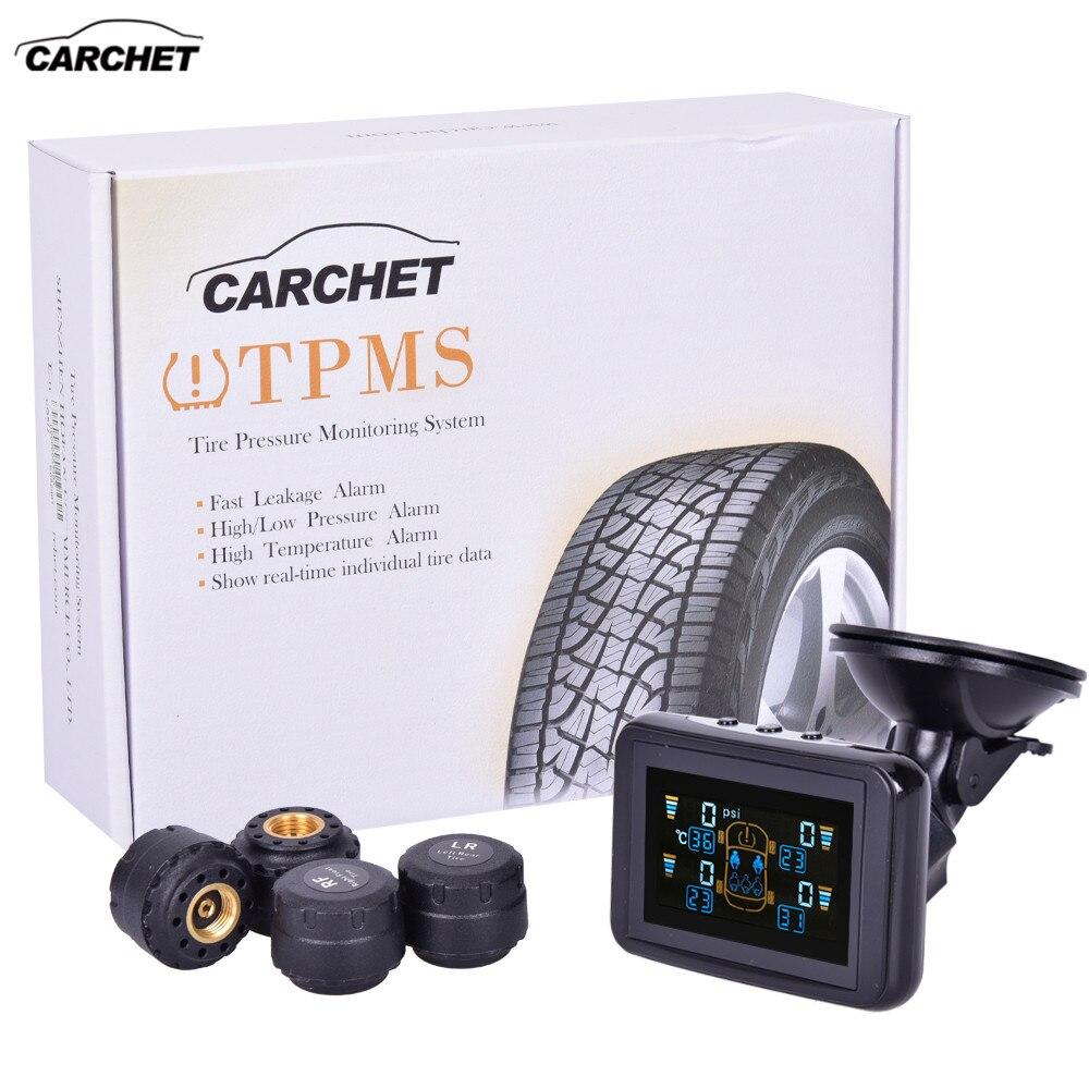 CARCHET TPMS systèmes système de surveillance de la pression des pneus sans fil alarme de pression des pneus de voiture LCD DVD 4 capteurs pour Toyota Hyundai etc.