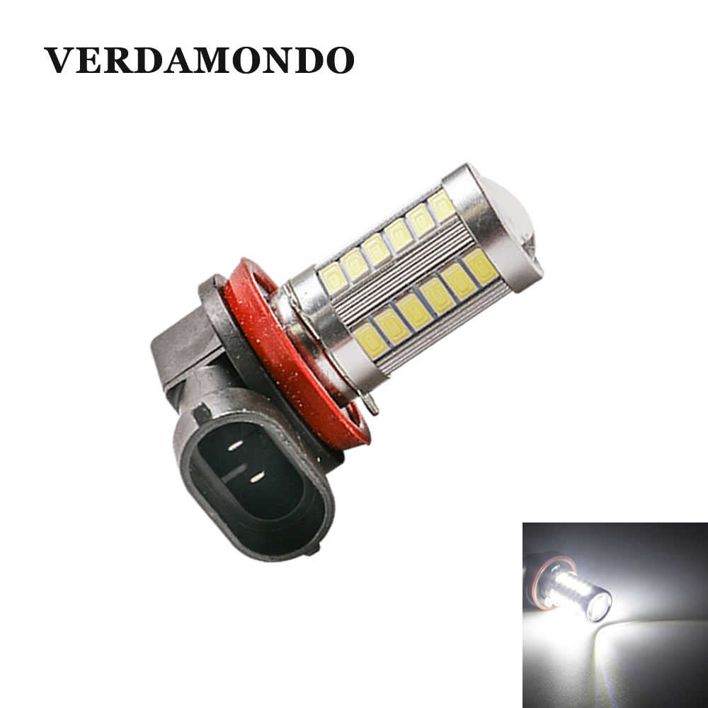 High-quality Car Styling H8 PGJ19-1  H11 PGJ19-2 33 SMD 5730 LED Lights Fog Lamp Running Lights Headlights Light Bulbs
