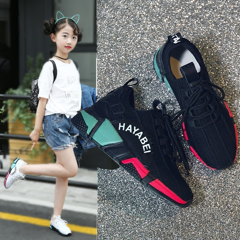 Children Tennis Shoes 2018 Girls Boys Summer Breathable Mesh Sports Shoes Original Design Fashion Kid Sneakers Casual Shoes