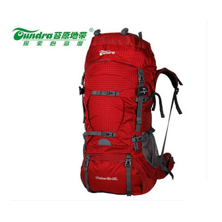 60L à l'intérieur support métallique Alpinisme Sac Randonnée Sac À Dos Grande Capacité Professionnelle Porter Nylon Extérieur Sac A4486