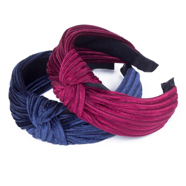 Haimeikang New Design Wide Hairbands Simple Fabric Cross Knot Hair  Accessories Fashion Korean Hair Band Hoop Headwear 1c04530377d