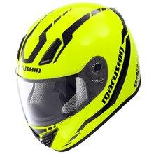 Мотоциклетный Шлем MARUSHIN 999RS Отдельных hornsfull шлем automobilerace шлем материал базальт гонки по бездорожью шлемы
