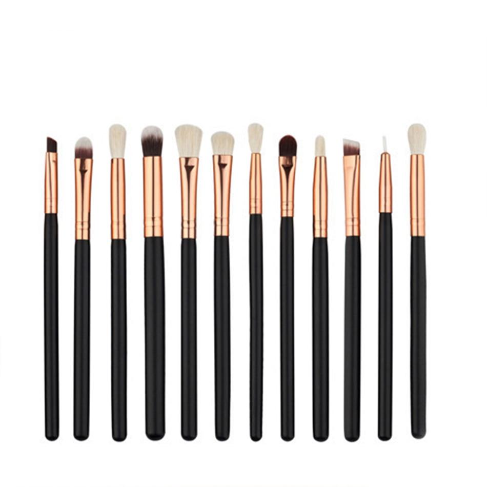 High quality 12 Pcs Blending Pencil Eye shadow Makeup Brushes eyeshadow Eyeliner Eyes Make up Brush Set FY12013