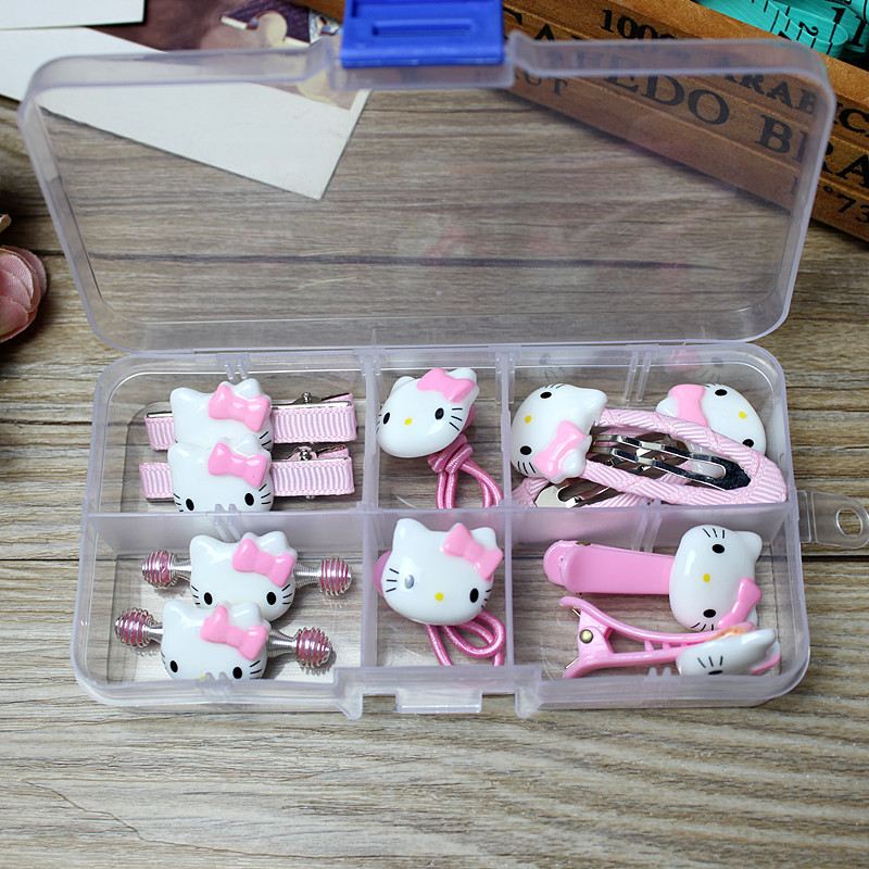 1 Geschenk-box Hallo Kitty Zubehör Für Babys Kinder Haarspangen Haarnadel Haarspange Gummibänder Hairgrip Haarspange Kopfschmuck