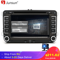Junsun 7 2 Din Android Car DVD GPS Radio Player Quad Core Bluetooth For Volkswagen VW