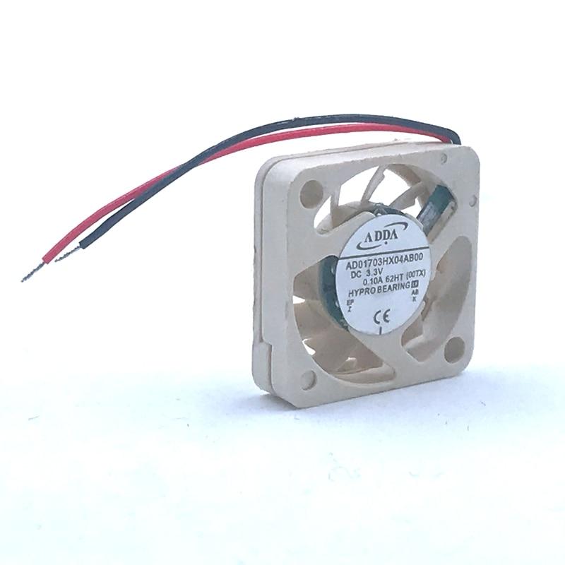 2pcs Mini Fan New FOR ADDA AD01703HX04AB00 1704 17x17x4mm 3.3V 0.10A Micro Device Fan UAV Fan