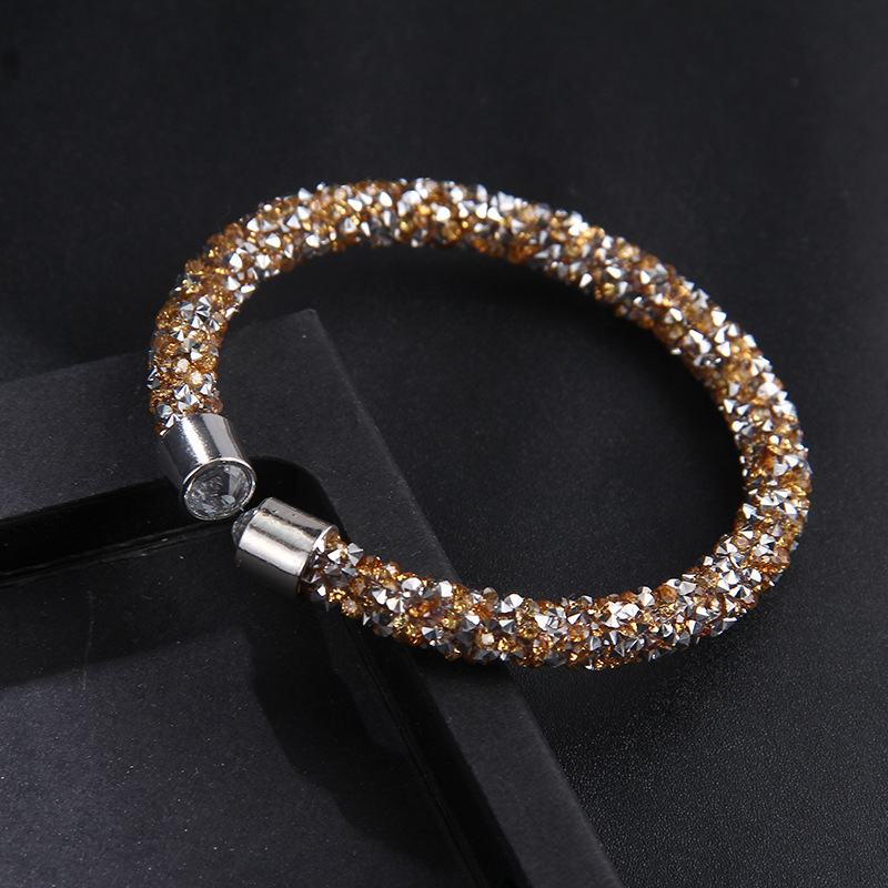 EUBFREE 20PCS MIXED 5colors Crystal Cuff Gift Bangles Bracelet Open Bangles Pulseira Bijoux Jewelry