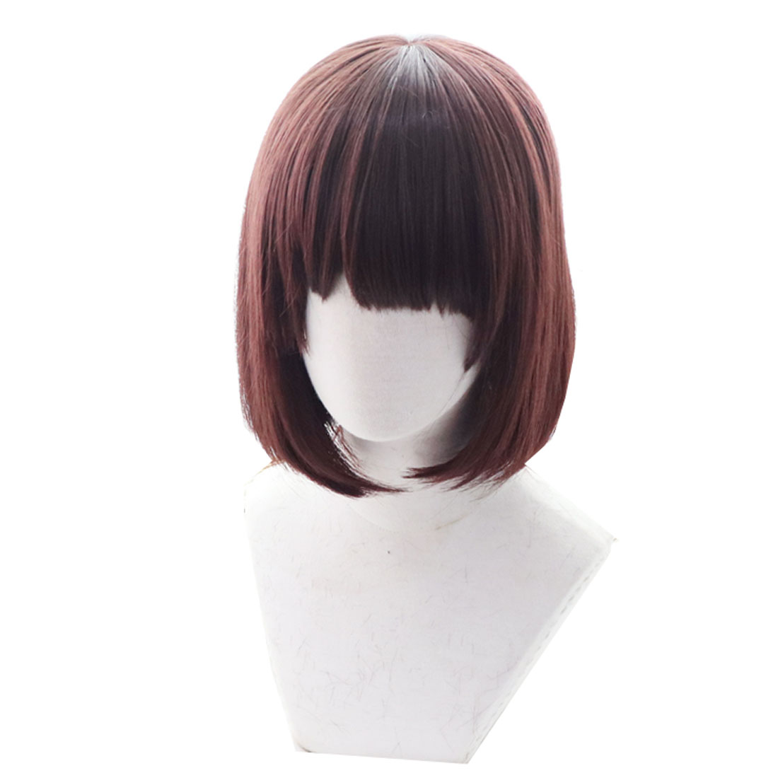 2019 Chara Frisk Wig Brown Heat Resistant Synthetic Hair Undertale Cosplay Wigs Necklace