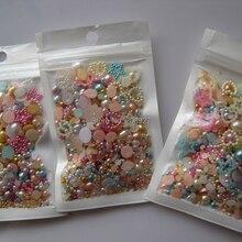87 микс мешок 20 г/пакет все микс жемчужины для дизайна ногтей украшения ногтей микс украшения супер предложение