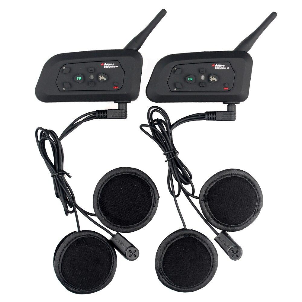 2 հատ Fodsports V4 Motorcycle սաղավարտ Bluetooth Bluetooth - Պարագաներ եւ պահեստամասերի համար մոտոցիկլետների - Լուսանկար 2