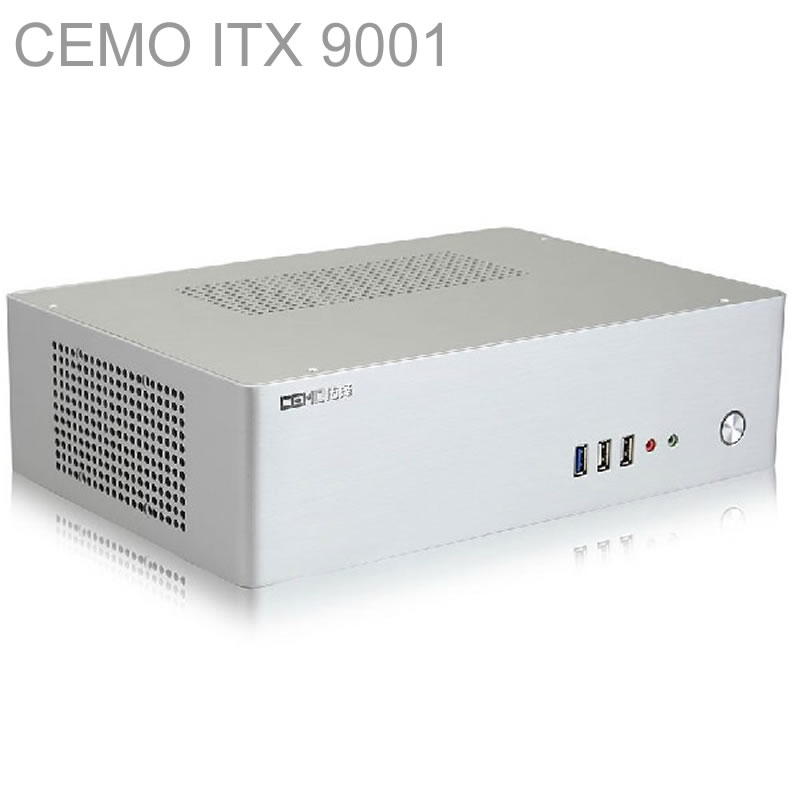 HTPC ITX Mini case with 300W Power, USB3.0, 3.5'' HDD, 2 PCI slots, aluminum computer case, mini computer, Multimedia, CEMO 9001 new fan e i5 aluminum htpc computer case e350 h61 hd perfect match i3 i7 e i5
