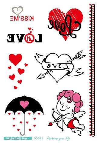 Rocooart Valentines Gifts Tatuagem Girls Temporary Tattoo Stickers