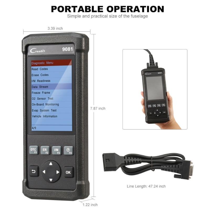 Image 3 - Launch DIY Scanner CReader 9081 Full OBD2 Scanner/Scan Tool Diagnostic OBDII Code Reader+ABS Bleeding+Oil+EPB+BMS+SAS+DPF CR9081