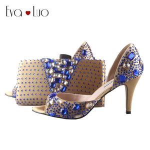 EVA LUO Bag Set Bridal Wedding Shoes Women High Heels 535db98d8103