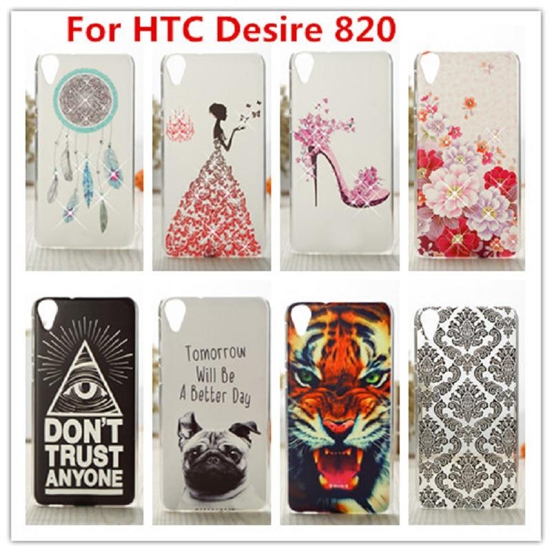 Pro Pouzdro HTC 820 / Luxusní Crystal Diamond 3D Bling Pevné Pouzdro pro HTC Desire 820 D820 D820U D820T Pouzdro na mobilní telefon