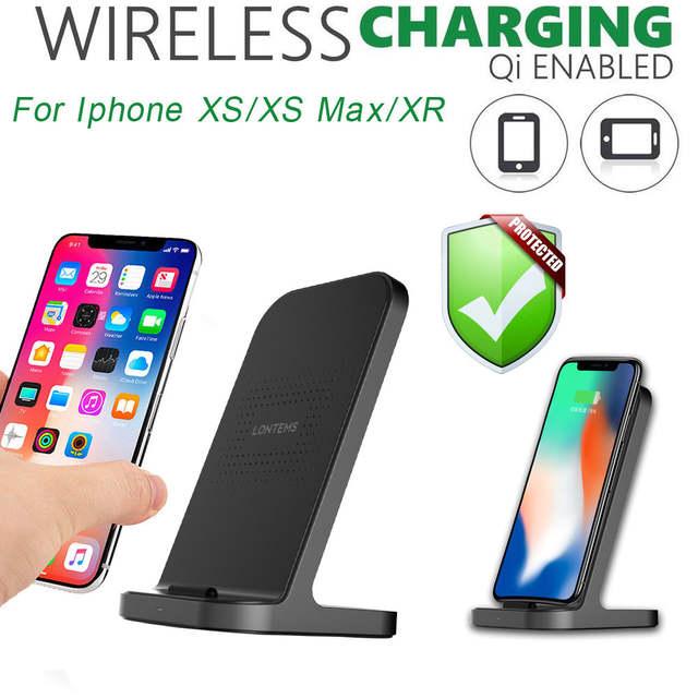 US $10.5 25% OFF|VOEVO szybkiego ładowania dla Iphone XsXs MaxXR Qi bezprzewodowa ładowarka podstawka pod telefon szybkie ładowarka do Samsunga S10