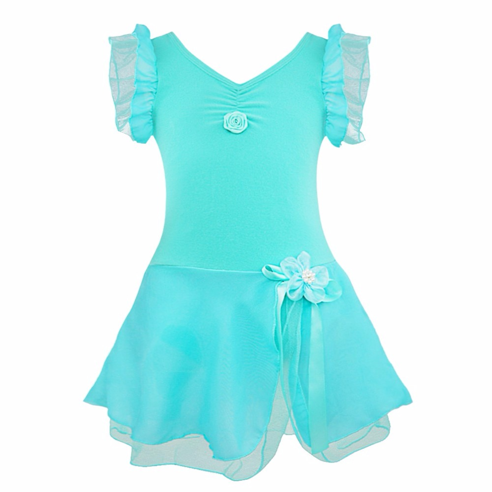 Child Girls Ballet Tutu Gymnastic Leotard Dance Dress Sleeveless ...