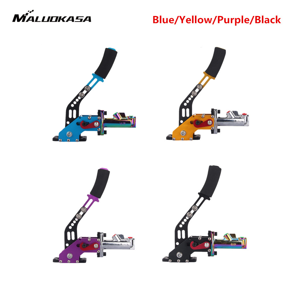 MALUOKASA Aluminum Universal Hydraulic E-Brake Racing Hand Brake Adjustable Vertical / Horizontal Drift Auto Replacement Parts neo chrome adjustable e brake hydraulic drift racing handbrake hand brake vertical horizontal s14 ae86