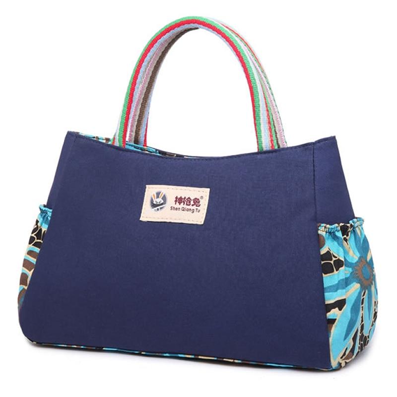 2016 mom canvas handbag women's hand bag hit color stit