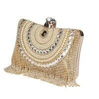 2015 Diamond Studded Long Tassel Bag Ladies Evening Bag Shoulder Chain Bag Party Banquet Evening Clutch
