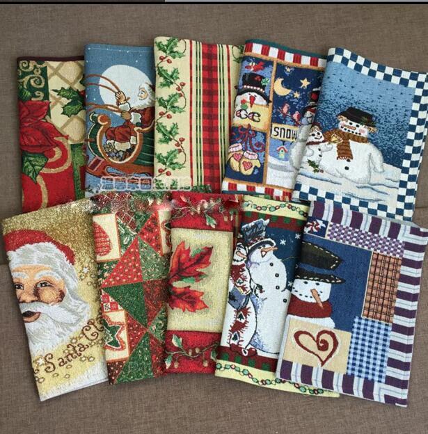 Christmas Placemat Place mat Mat 4pcs /lot American jacquard snowman table dinner coaster Dec Gift wholesale FG132
