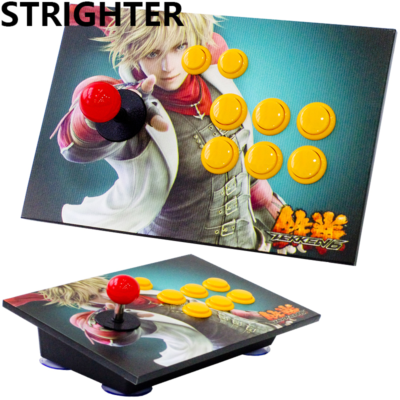 Tekken arcade joystick 8 buttons King of fighters pc controller computer game Joystick Consoles safety and often converter 4 buttons to remote controle arcade transform screen to street fighter for tekken display