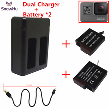 SnowHu for GoPro Hero 5 Battery 2PCS 1220mAh For + USB Dual Charger GP508B