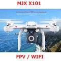 X101 MJX zangão FPV Quadcopter Wi-fi Decapitado Um Retorno Drones Voando pode + C4008 HD FPV GoPro Camera vs JJRC H8D H11D H12C