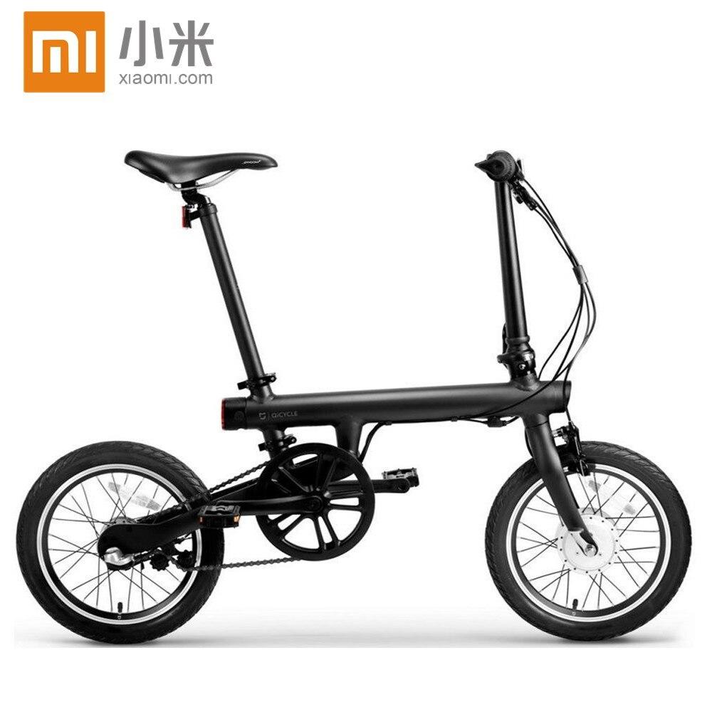 Prix pour D'origine xiaomi smart électrique scooter EF1 portable mijia Qicycle e scooter pliable pedelec ebike avec 1.8 ''TFT écran moniteur