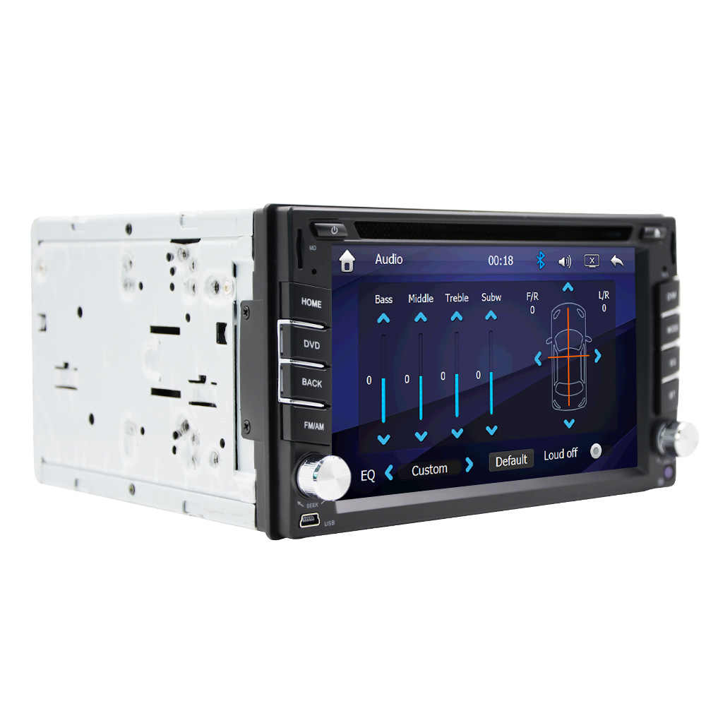2019 新 Eunavi 2 Din 車の Dvd ブルートゥース Usb/tf Fm Aux 入力ラジオ Mp5 プレーヤーマルチメディアエンターテイメント hd リアビューカメラ