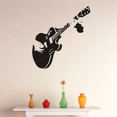 Morden Guitar Music Art Decal Wall Sticker Quote Removable Diy Home