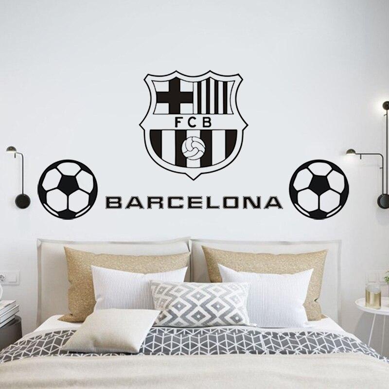 Europa Barcelona clube De Futebol adesivo de parede kids room quarto sala vinil decalques removível art decoração DIY Murais D15