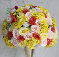 SPR Free shipping!50cm wedding road lead artificial flower kissing ball wedding flower wall table flower centerpiece decoration