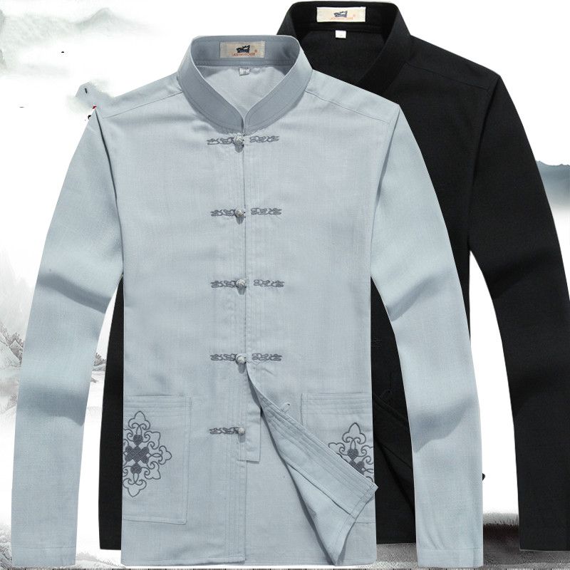 Ambitieus Traditionele Chinese Oosterse Mens Clothing Voor Mannen Chinese Tang Pak Mannen Traditionele Chinese Mannelijke Clothing Tang Pak Ontwerpen