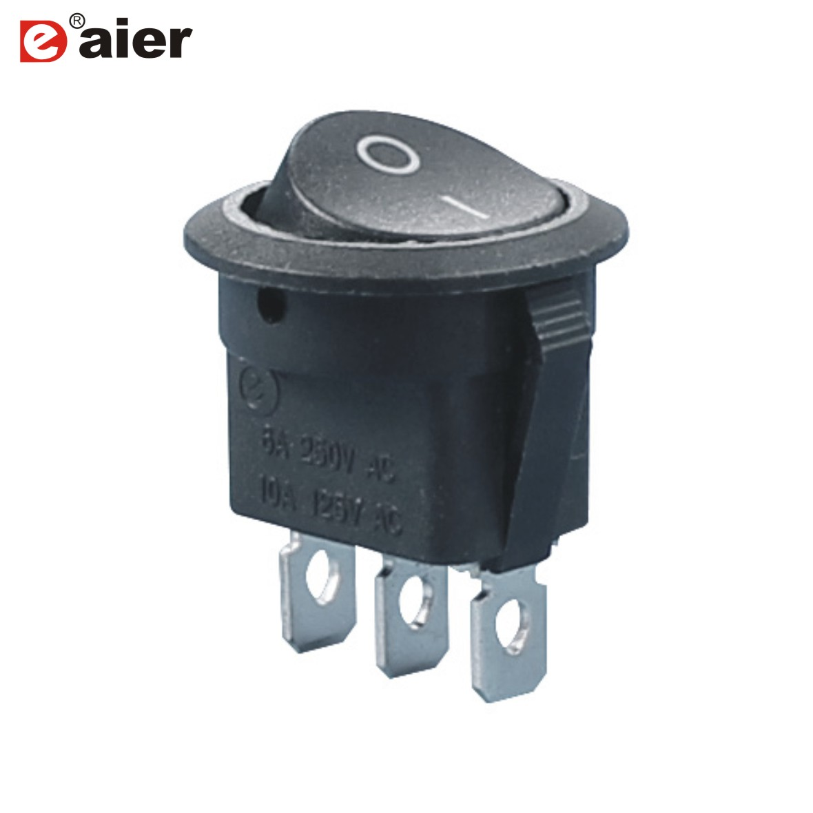 10Pcs Red Lamp 3Pin ON//OFF 2 Position Rocker Switch 10A//250VAC Panel Mount NEW