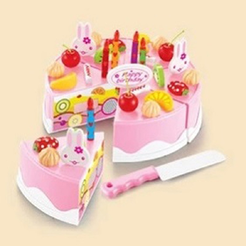 37pcs Diy Birthday Cake Model Kitchen Toy 3 Children Kids Early