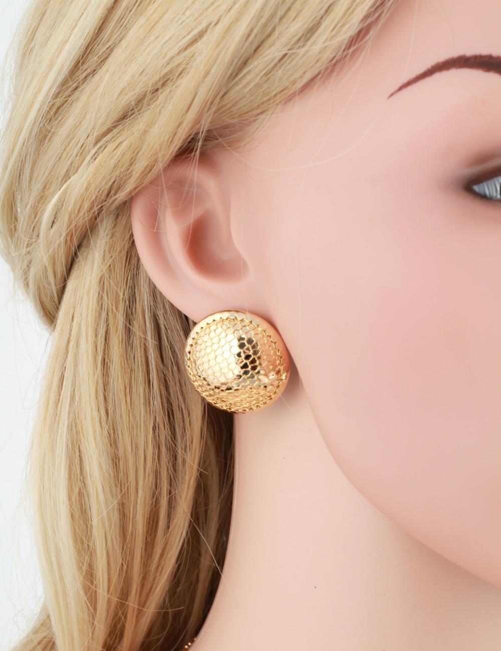 earrings africa marco y yellow stud products bicego gold africagoldstudearrings large