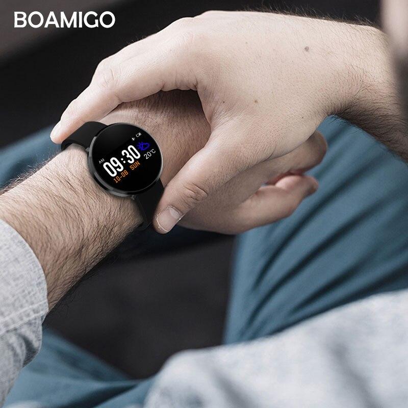 Montre intelligente Bluetooth Android IOS Smartwatch appel téléphonique rappel Calories moniteur de fréquence cardiaque Bracelet de marque BOAMIGO - 5