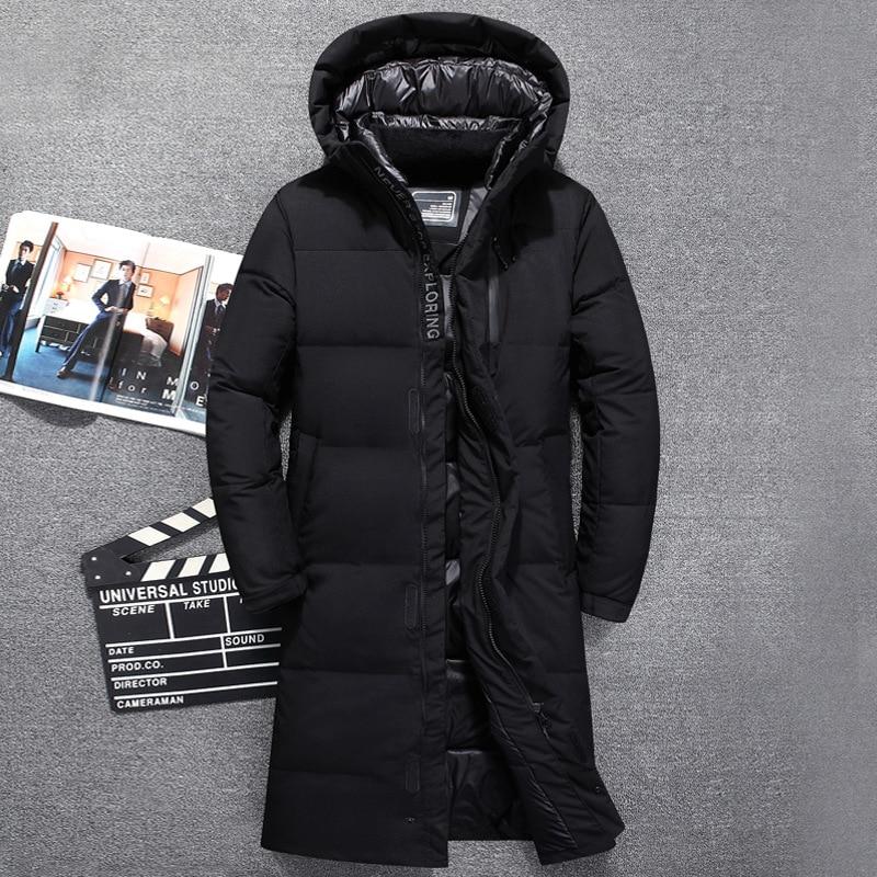 الرجال بطة أسفل سترة العلامة التجارية الصلبة الشتاء سترة للرجال Doudoune أوم 2018 مقنعين الرجال الشتاء سترة معطف x طويلة أسفل سترة-في جواكت قصيرة من ملابس الرجال على  مجموعة 1