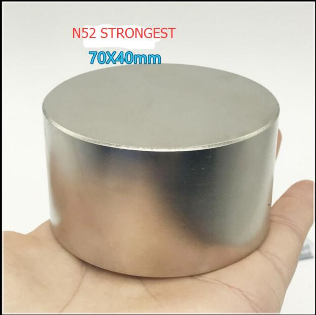 XIAOZHUFEIFEI  1pcs 70mmx40mm Neodymium magnet 70*40mm Round Cylinder Permanent Magnets 70*40 NEW 70x40 mm Art Craft Connection 2 pcs new 44mm cylinder