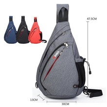 Men Large capacity Chest Pack Fashion Messenger Bags Crossbody Bag Sling triangle shoulder bags every day carry free shipping