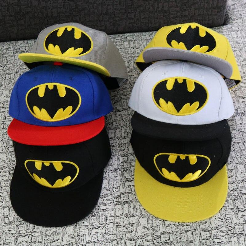 Anime Cartoon Batman Bat Baseball Caps For Children Boy Sport Cap Hip Hop Hats Summer Sun Hat Outdoor Shade Cap emoji cartoon knitting wool hat skullies beanies for men women outdoor warm keeping flanging cap hip hop hats for dropshipper