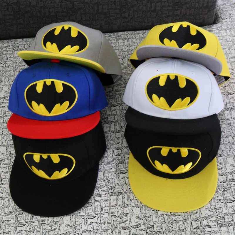 7a584417064 Anime Cartoon Batman Bat Baseball Caps For Children Boy Sport Cap Hip Hop  Hats Summer Sun