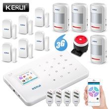 KERUI جديد G183 WCDMA 3G لاسلكي للأمن المنزلي GSM 3G نظام إنذار APP جهاز التحكم عن بعد الذراع اللصوص