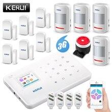 KERUI YENI G183 WCDMA 3G Kablosuz Ev Güvenlik GSM 3G Alarm sistemi APP Uzaktan Kumanda Hırsız Kol