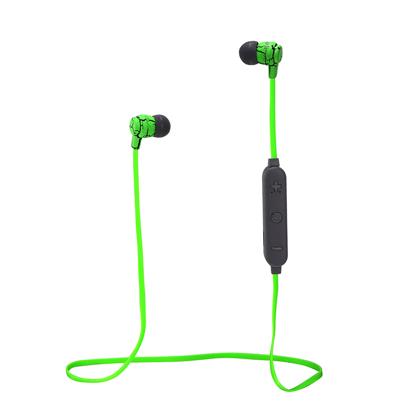 Aibesser crack design bluetooth earbuds with microphone flat noodle cable sports waterproof smartphone bluetooth headset