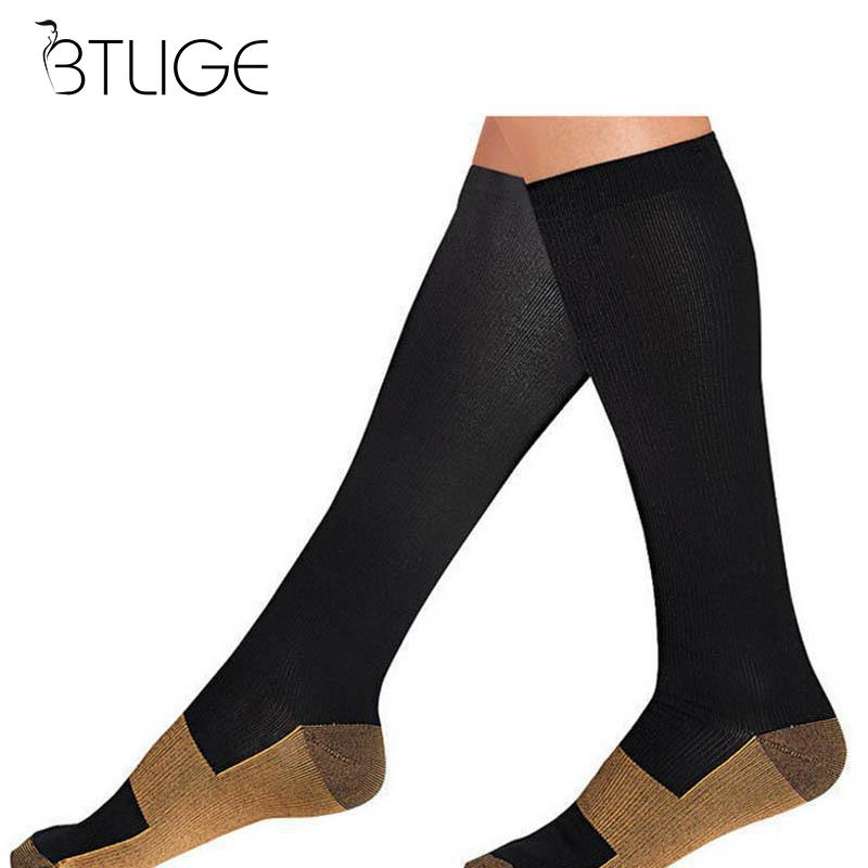 Men's Socks Men Women Leg Support Stretch Compression Socks Below Knee Socks Antifatigue Anti-fatigue Knee Compression Socks